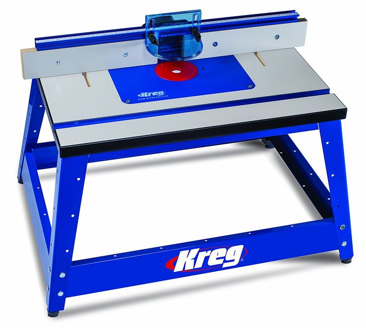 blue Benchtop Router Table Kreg