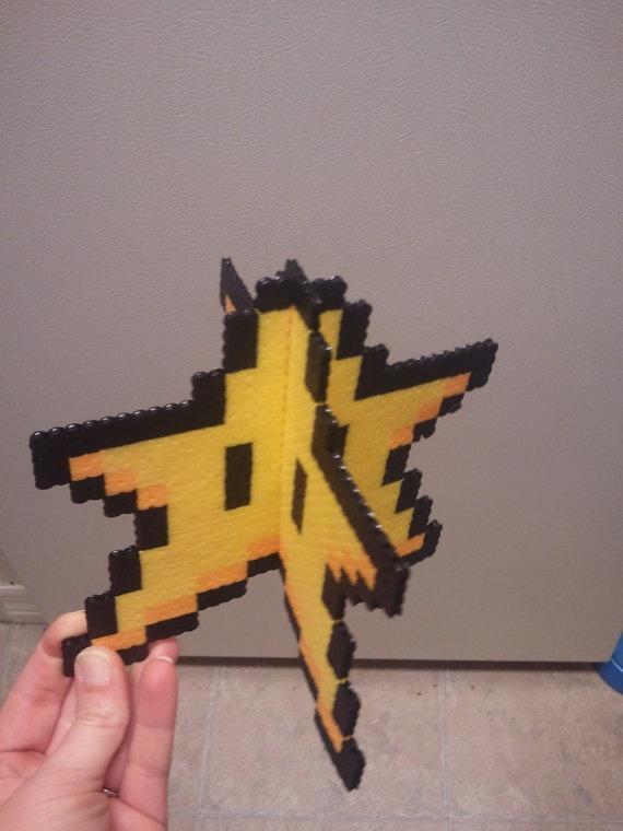 Perler Mario Star  Decoration or tree topper by jinglebells0424, $19.50