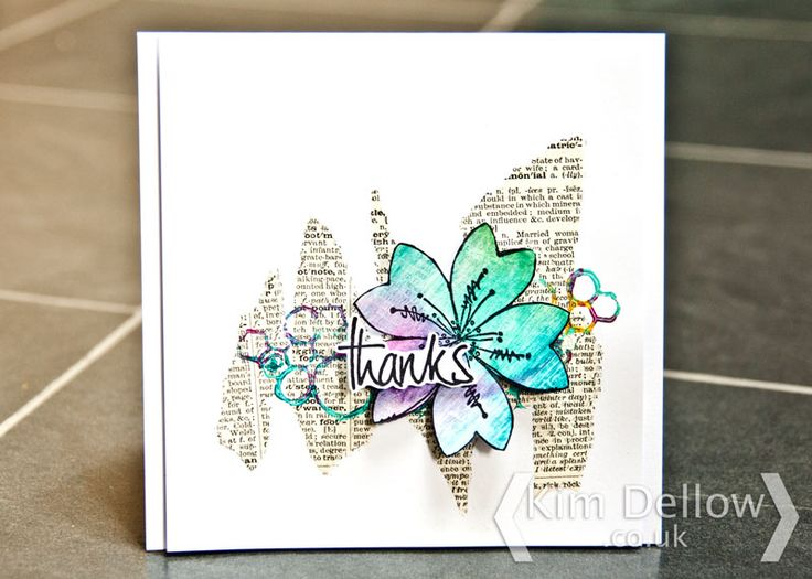 Kim Dellow: Playing some @PaperArtsyhq products to make a sort of clean and simple card with a mixed media spin.