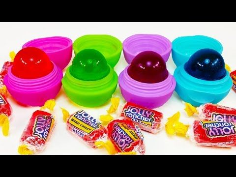DIY: Make Your Own EDIBLE EOS JOLLY RANCHER LOLLY POP CANDY TREATS! Soo Tasty & Sweet! - YouTube