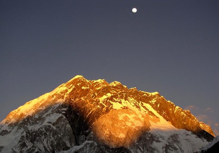 Mt Lhotse at sunset, Nepal.