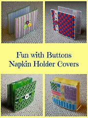 Fun With Buttons Napkin Holder Covers -- Sew easy! Sew fun! Choose your colors and buttons and GO SEW! :) Download NOW at Annie's Crafts Store