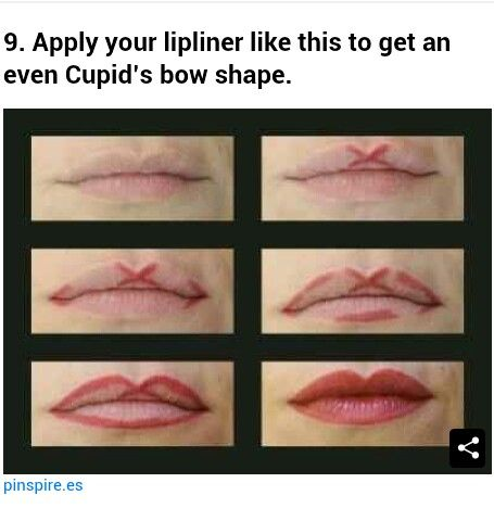 Lipliner tutorial for Cupid's Bow lips