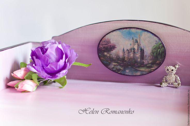 """Купить Мини комод """"Принцессы в детстве"""" - фиолетовый, мини комод, мини комодик…"""