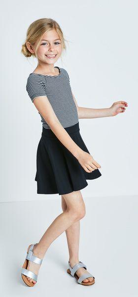 Rib-Knit Circle Skirt Outfit