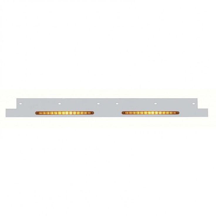 Kenworth Lower Grill Trim w/ LED Light Bar - Amber LED/Amber Lens