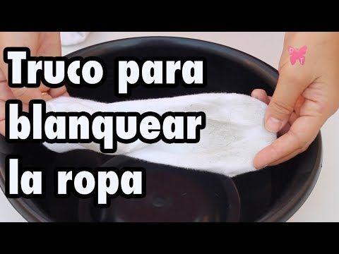 Cómo blanquear la ropa blanca y eliminar las manchas (sin lejía o cloro) - YouTube