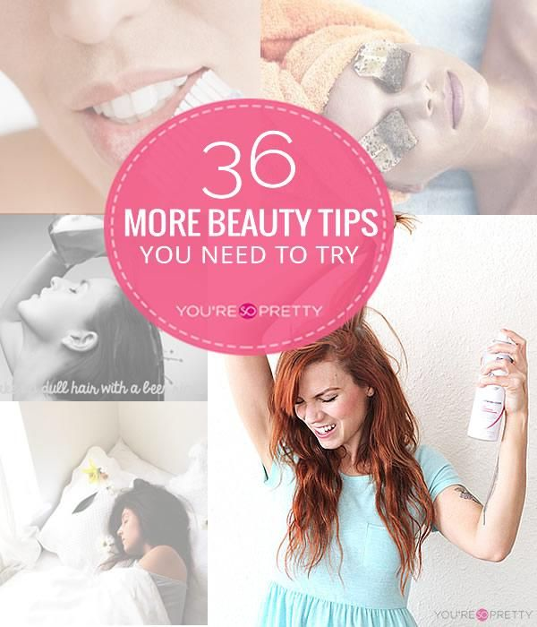 36 Beauty Tips   DIY face masks, facial cleansers, DIY skin care products and natural skin care remedies at You're So Pretty.   #youresopretty   youresopretty.com