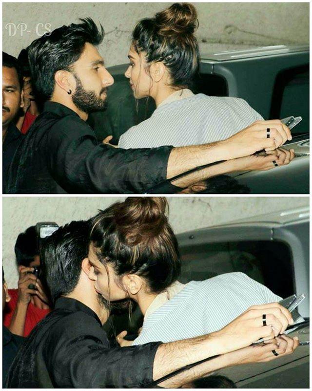 😍😭 #DeepikaPadukone & #RanveerSingh at Madaari Screening last night…