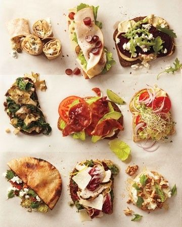 healthy open faced sandwiches- open face just means using one slice of bread instead of two