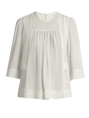 Mara embroidered silk blouse    Isabel Marant   MATCHESFASHION.COM UK