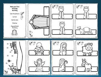 Christmas Nativity Mini Activity Book - Activities to Retell the Nativity Story