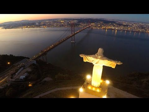 Cristo Rei Portugal - Night flight