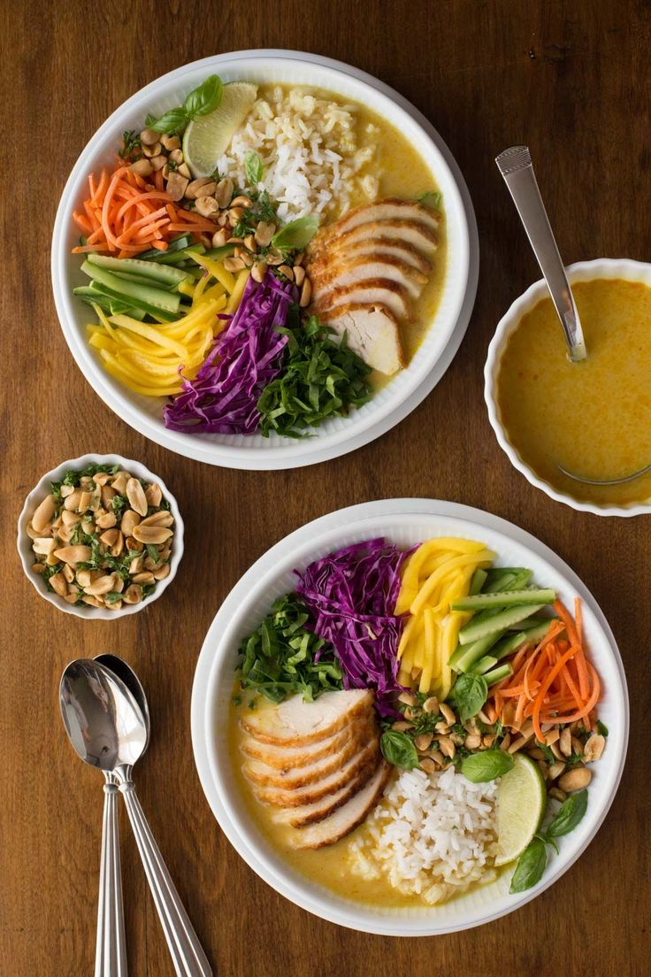 Fresh and vibrant, these 30 Minute Vietnamese Chicken and Rice Soup Bowls are super easy to put together; and you'll find yourself craving it all the time!