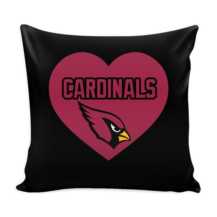 Arizona Cardinals Simple Heart Pillow Cover (Free Shipping)