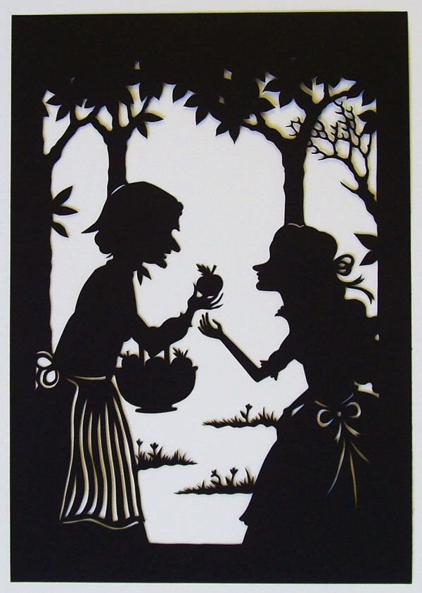 Snow White paper cut