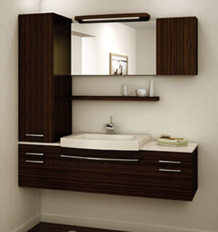 Vanité sur mesure Collection Smile, la promesse d'une salle de bains d'une élégante sobriété avec ses lignes épurées, adoucies par la courbe gracieuse du l