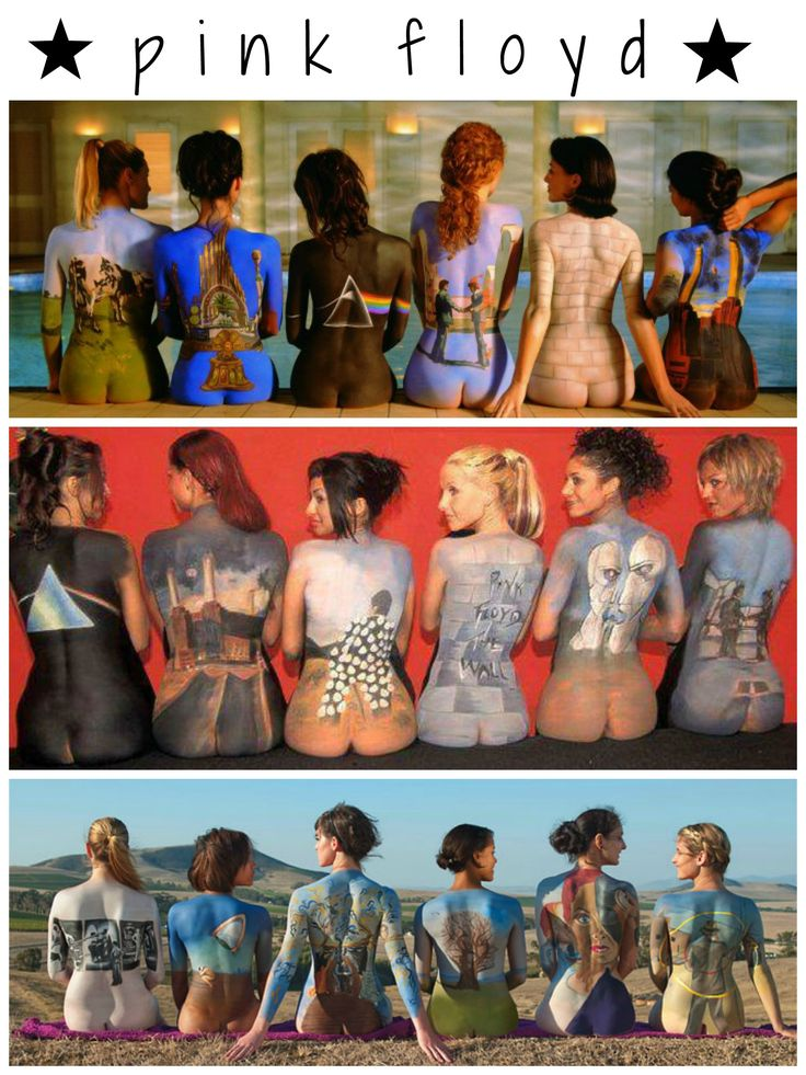Pink Floyd ☮ covers body painted