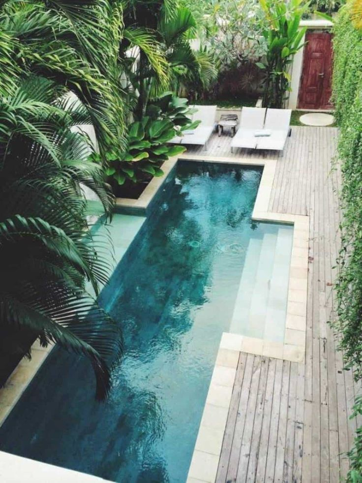 Inground Beautiful Small Pool Designs : Landscaping And Outdoor Building , Outdo