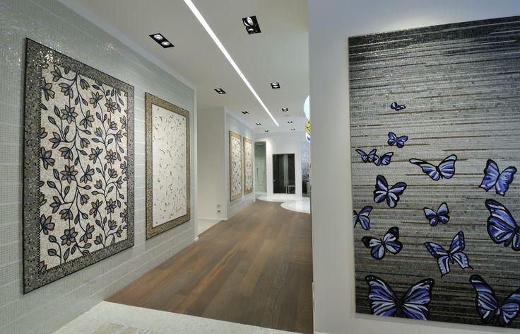 Pannelli decorativi mosaico e pavimento parquet rovere termotrattato 100% biocompatibile