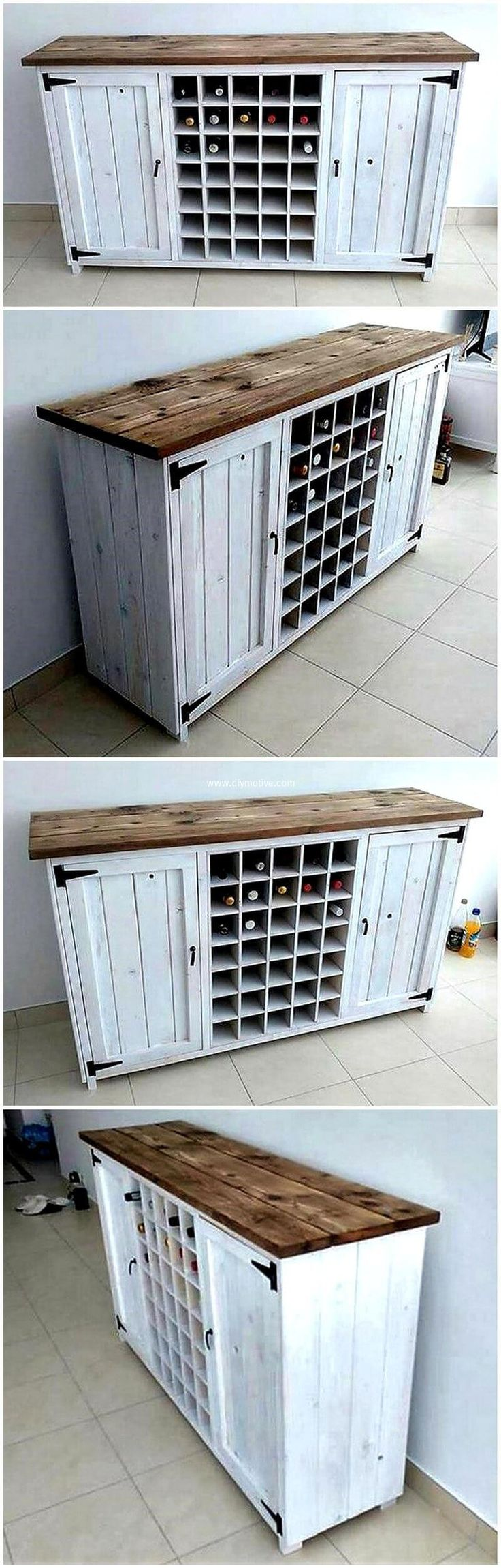The whole area gets transformed into an attractive and classy look due to the presence of such decent artworks as this wood pallet table. This type of furniture enhances the natural beauty outside your home by its looks. Mini cubes seems to be helpful for holding dozen of bottles in it. Pallet entryway table project is interesting as well important. Do try this project.