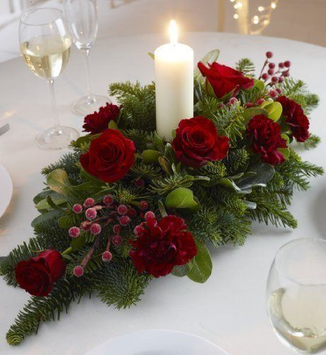 753 best velas candelabros y flores images on pinterest for Christmas centerpiece ideas for round table