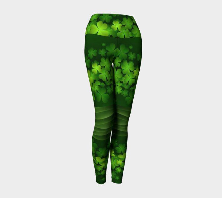 10 dollars off!, St Patricks day, 4 leaf clover, shamrock leggings, green and white leggings, Irish leggings, shamrock leggings by ImagineAvalon on Etsy https://www.etsy.com/listing/511000317/10-dollars-off-st-patricks-day-4-leaf