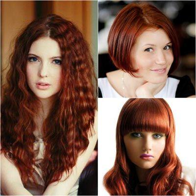 Медно рыжий цвет волос краска