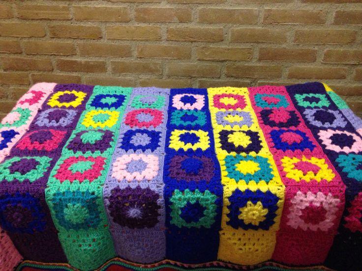 Eerste project. Veelkleurige deken