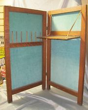 Vintage Folding Portable Sewing Cabinet