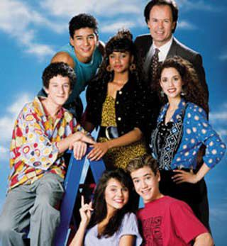 Saved By The Bell...I loved Mr. B, Slater, Lisa, Jessie, Kelly, Zach, and Screech!!!!!!! (and yes I remembered all their names!!)