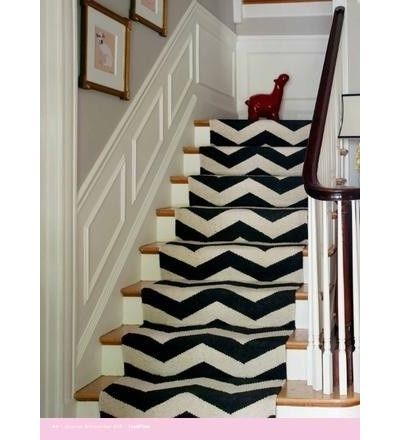 Stair Runner, replaceable after worn, cheaper than replacing carpet... I love the walls!