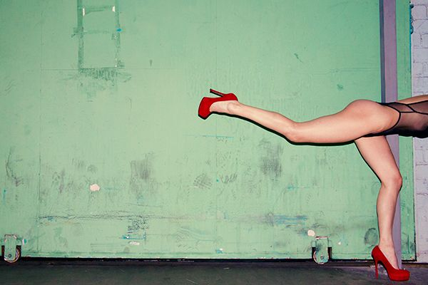 """""""Running In Red"""" by Tyler Shields. With my ropey old eyes I misread this as, """"Running in Bed"""". Now that WOULD have been a shot..."""