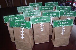 Football Party Favors #FLVS #goody #bag #Football                                                                                                                                                     More
