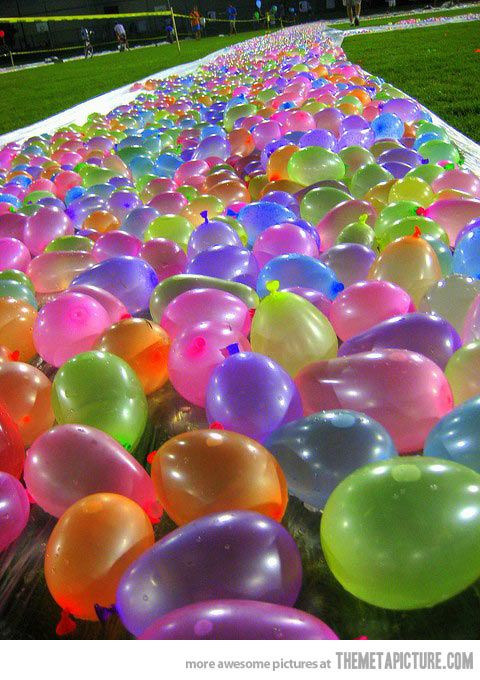Water balloon slip and slide…,  Go To www.likegossip.com to get more Gossip News!