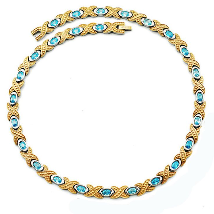Find More Chain Necklaces Information about Wollet Necklaces for Women Blue CZ Crystal Jewelry High Quality Germanium Infrared Gold Filled Pure Titanium Magnetic Necklace,High Quality necklace pain,China necklace store Suppliers, Cheap necklace charms for men from wollet jewelry on Aliexpress.com