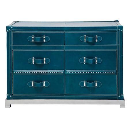 KARE Design Blue Leather Cabinet