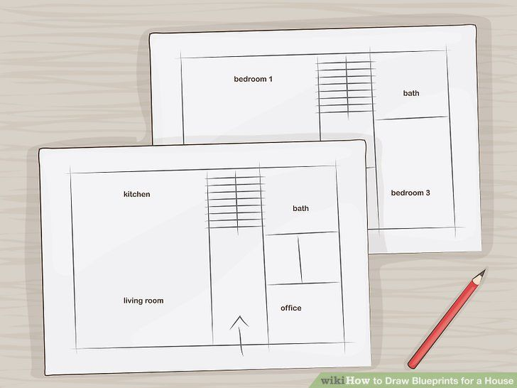 How To Draw Blueprints For A House With Pictures Wikihow In 2020 Floor Plan Design Blueprints House Design