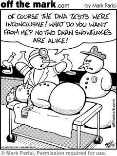 Forensic funnies.  Hahaha Bean another snowman funny!!!!!!!!  you are a sick puppy!