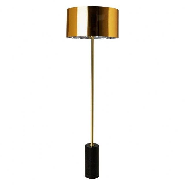 The Stylish Kuriko Black Marble And Brass Metal Floor Lamp Is A Statement Design That Combines Generous Proportions Wit In 2020 Metal Floor Lamps Lamp Brass Floor Lamp