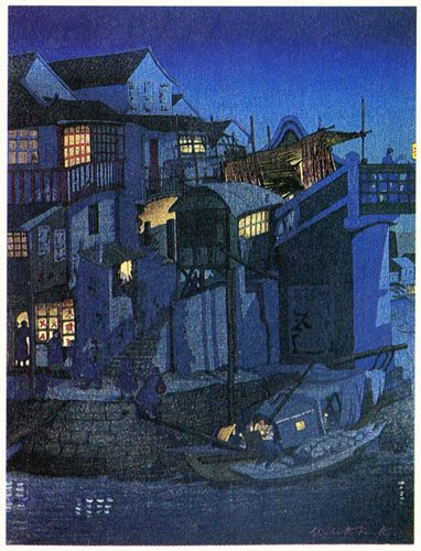 Moonlight, Soochow by Elizabeth Keith, 1924