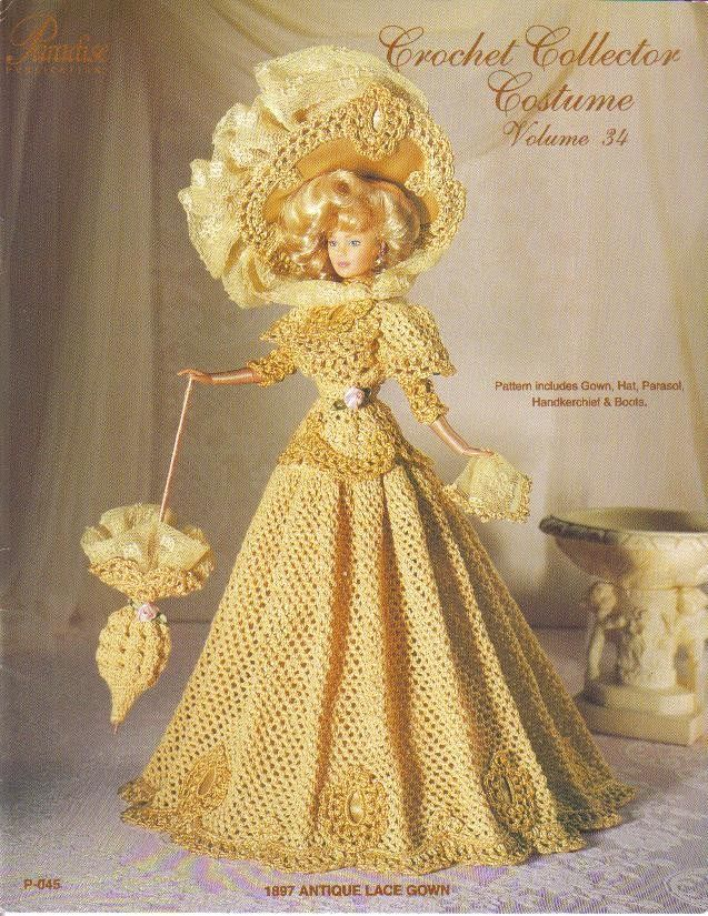Free Crochet victorian fashions | ... Needlecrafts  Yarn  Crocheting  Knitting  Patterns  Doll Clothing