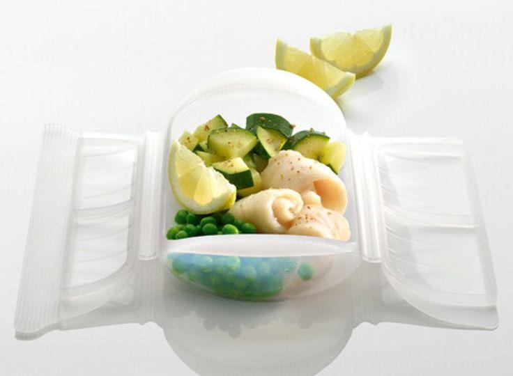 Platillo de pescado con verduras al limón