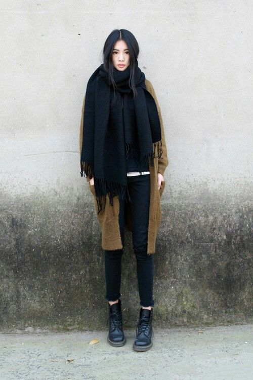 Brown/beige with all black