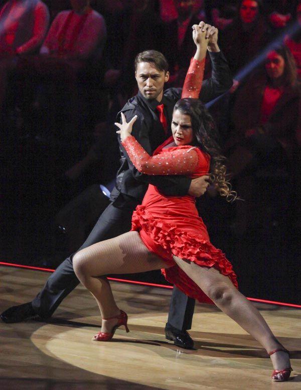 El fugaz paso de Katia Aveiro por el '¡Mira quién baila!' portugués