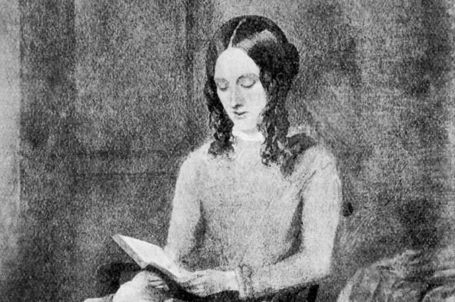 About Charlotte Brontë, 19th Century Author of Jane Eyre: Charlotte Bronte, from a watercolor by Paul Heger, 1850