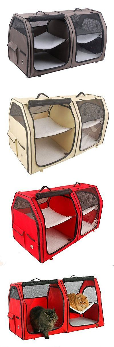 Carriers and Crates 116362: Cat Show House Portable Dog Kennel (Shelter) Red Cream Tan New -> BUY IT NOW ONLY: $49.81 on eBay!