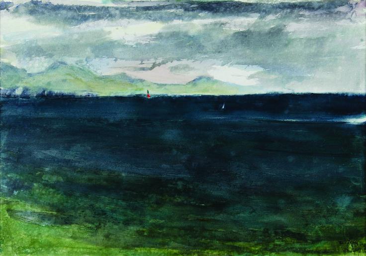 Ύδρα, θάλασσα|1998, Ακουαρέλα O Παναγιώτης Τέτσης αφηγείται στο LIFO.gr την ιστορία της ζωής του