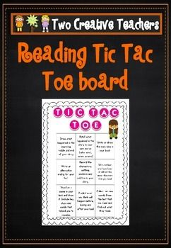 Two Creative Teachers - Reading Tic Tac Toe BoardThis reading tic tac toe board has reading response activities and suggestions. Students can complete three in a row, select a response of their choice or complete as part of home learning. This is great for independent reading and learning.If you would like a custom order please contact us at twocreativeteachers@gmail.com.