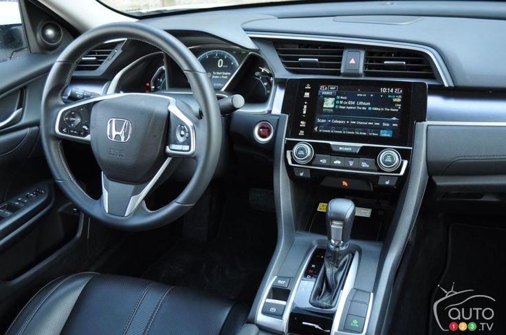 2016 #Honda #Civic Sedan #Touring interior